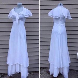Vintage white prairie maxi dress Jodi T